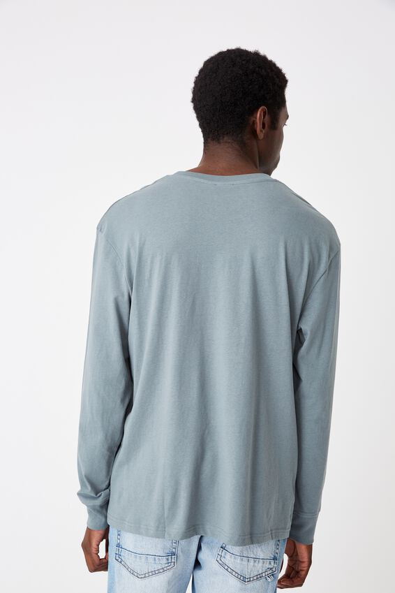 Tbar Long Sleeve, SMOKEY TEAL/UNKNOWN PROJECTS EMB