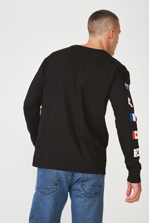 Tbar Long Sleeve, BLACK/INTERNATIONAL SUPPLY