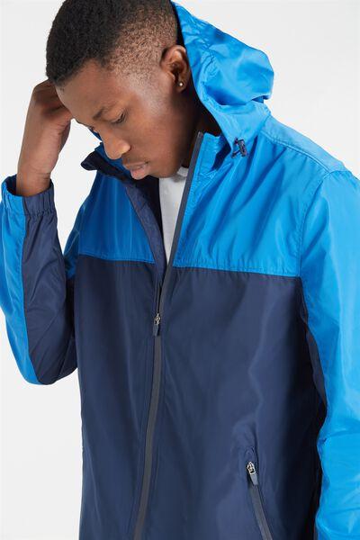 Retro Spray Zip Thru Jacket, NAVY