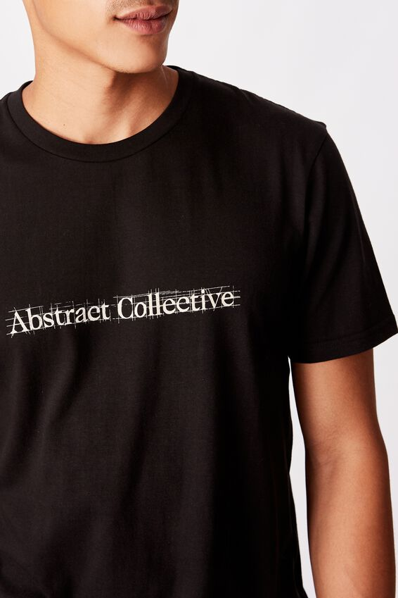Tbar Text T-Shirt, BLACK/ABSTRACT COLLECTIVE SKETCH