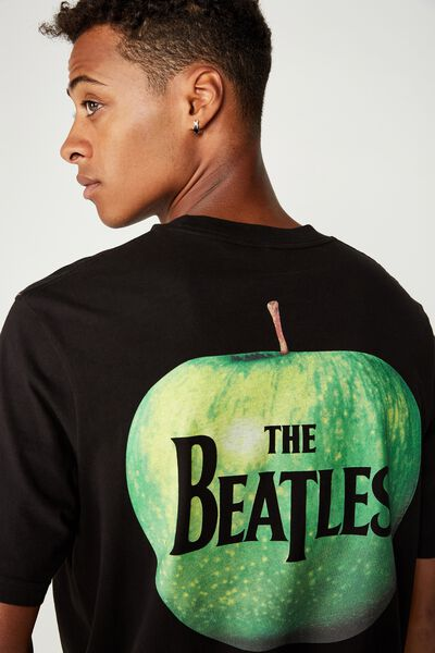 Tbar Collab Music T-Shirt, LCN APP BLACK/THE BEATLES APPLE