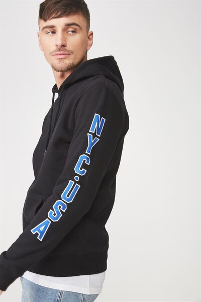 Fleece Pullover 2, WASHED BLACK/NYC USA