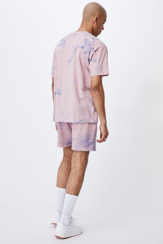 Premium Fleece Short, LCN IRV DIRTY PINK/IRVIN S SALTED EGG LOGO
