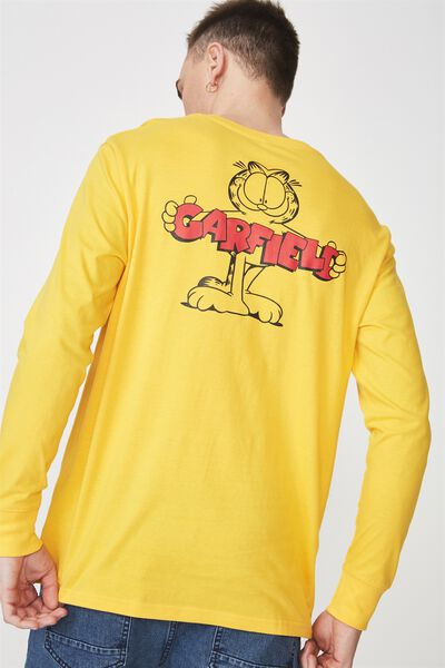 Tbar Collaboration Ls Tee, LC SAFETY YELLOW/GARFIELD
