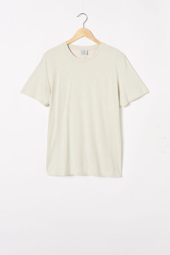 Tbar Text T-Shirt, BONE/SOMETIMES EMBROID