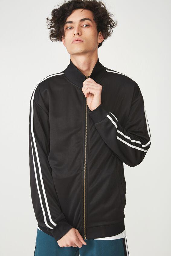 Tricot Jacket, BLACK