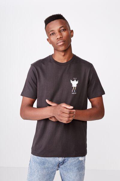 Tbar Art T-Shirt, WASHED BLACK/GET WEIRD