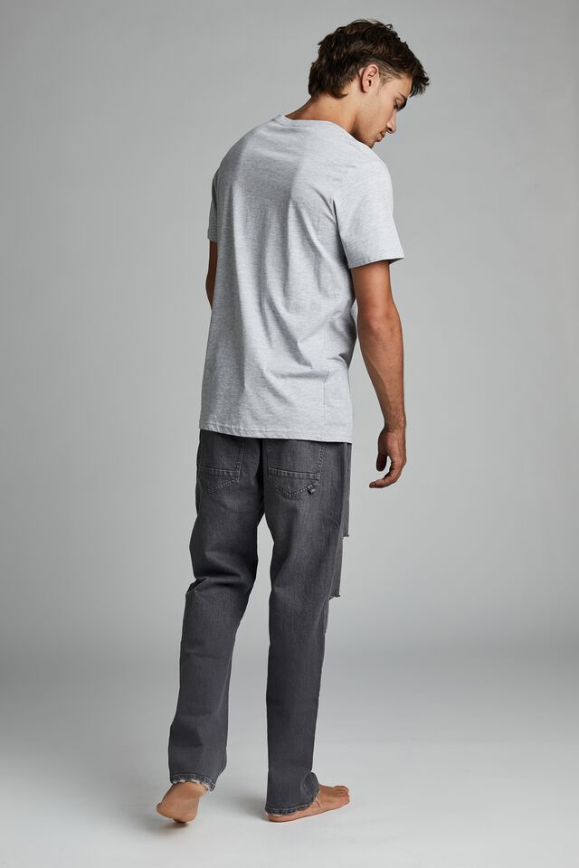 Beckley Straight Jean, GREY STORM RIPS