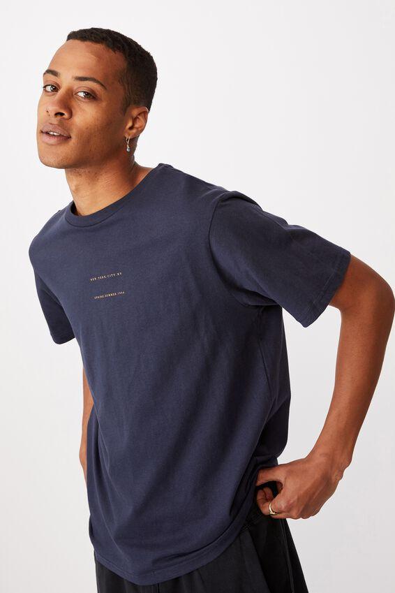 Tbar Text T-Shirt, TRUE NAVY/NEW YORK CITY 1994