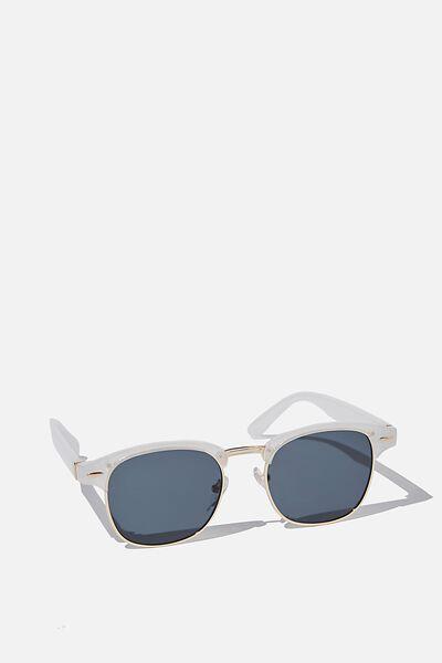 Leopold Sunglasses, PEARL/GOLD/SMOKE