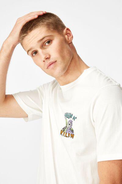 Tbar Art T-Shirt, SK8 VINTAGE WHITE/CHILLIN N KILLIN BRIGHT