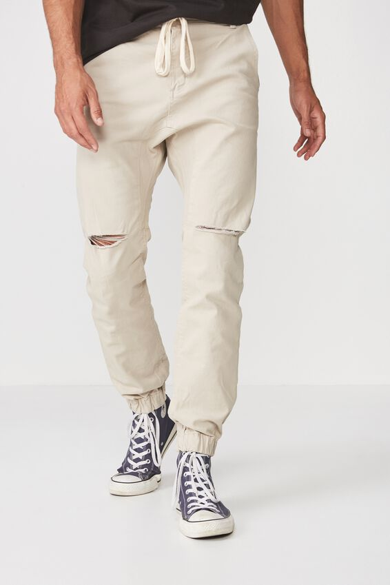 Slim Denim Jogger, STONE RIPS