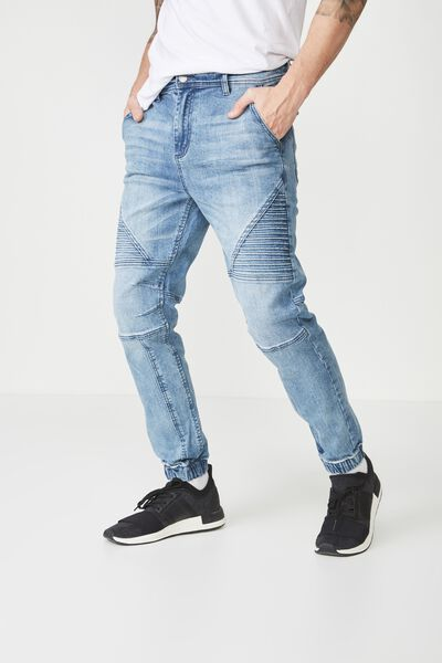 Slim Denim Jogger, OCEAN BLUE MOTO