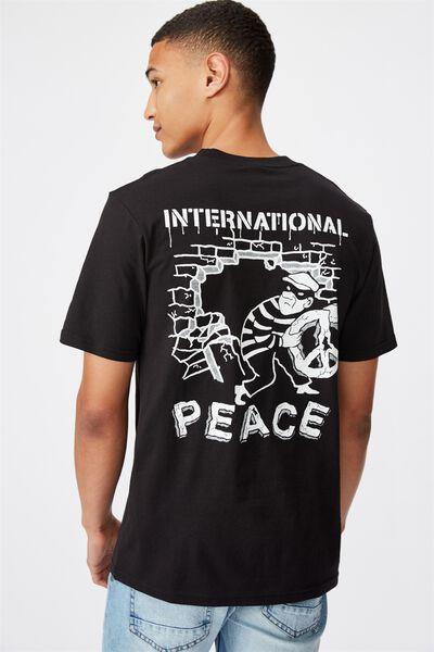 Tbar Art T-Shirt, SK8 BLACK/INTERNATIONAL PEACE