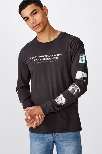 Tbar Long Sleeve, WASHED BLACK/ORDER COLLECTIVE