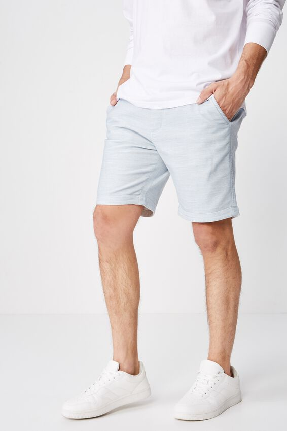 Tailored Casual Short, BLUE TEXTURE