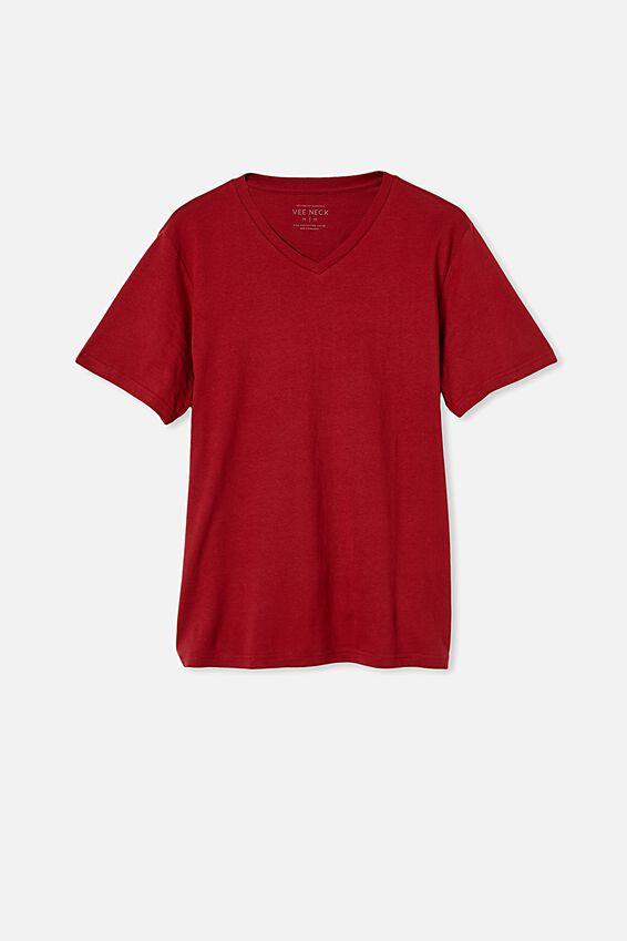 Essential Vee Neck T-Shirt, CHILLI PEPPER