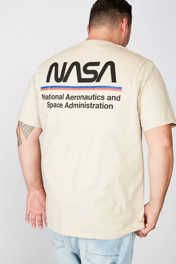 Tbar Collab Tee, LCN NAS SK8 PEARL/NASA - WORM LOGO STRIPES