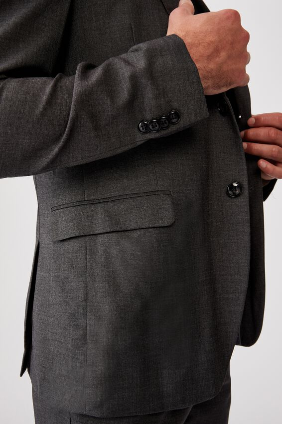 Slim Stretch Suit Jacket, CHARCOAL