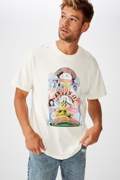 Special Edition Tee, LCN ARA VINTAGE WHITE/LED ZEPPELIN - ELECTRIC MAGI