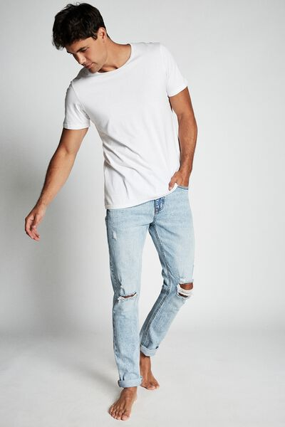 Slim Fit Jean, GRAVITY BLUE + RIPS