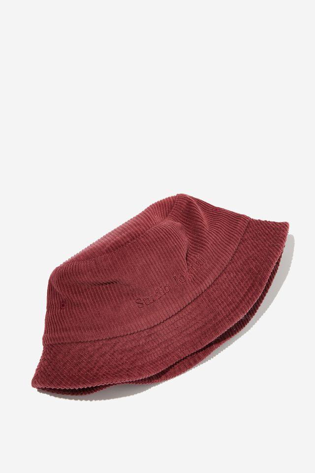 Bucket Hat, WASHED OXBLOOD CORD/STUDIO JOURNAL