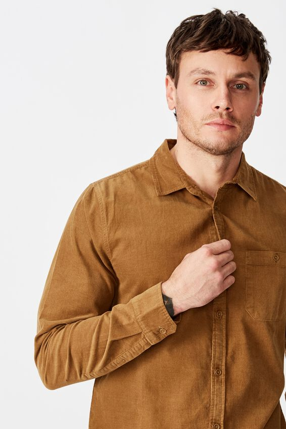 Festival Long Sleeve Shirt, TAN