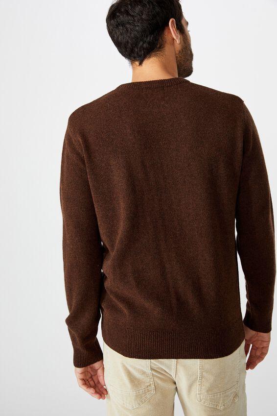 Premium Crew Knit, CHOCOLATE MARLE