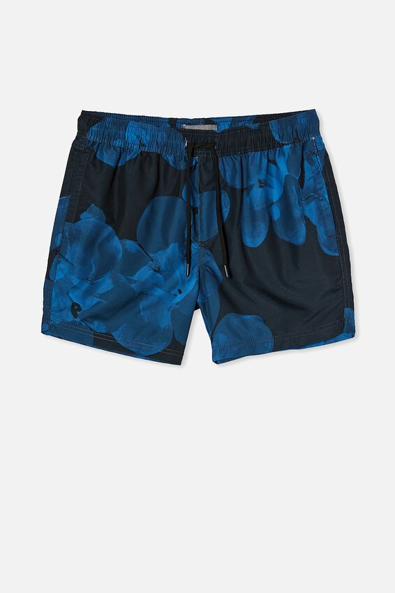 Swim Short, INK INVERSE FLORAL
