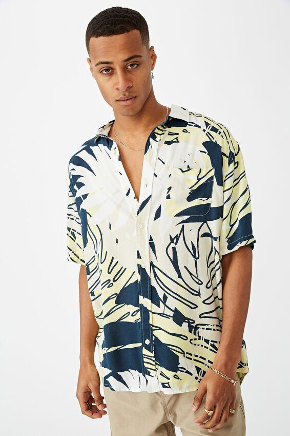 Short Sleeve Resort Shirt, SPLICED FLORAL