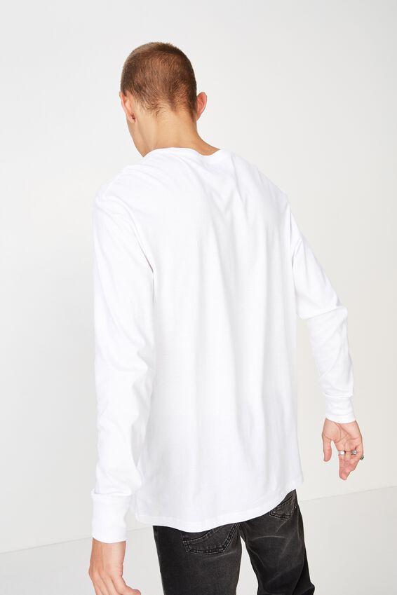 Tbar Long Sleeve, WHITE