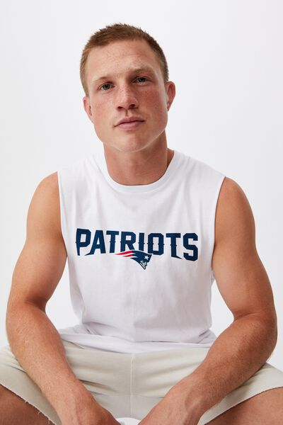 Active Nfl Muscle, LCN NFL WHITE/PATRIOTS-LOGO