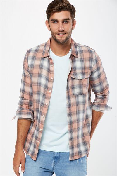 91 Shirt, ORANGE SHADOW CHECK