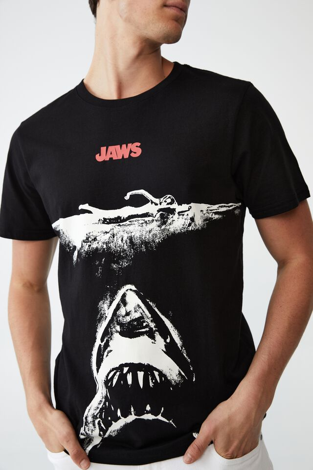 Tbar Collab Movie And Tv T-Shirt, LCN UNI BLACK/JAWS - OVERSIZED POSTER