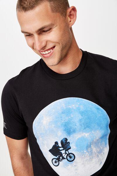 Tbar Collab Movie And Tv T-Shirt, LCN UNI SK8 BLACK/E.T - MOON
