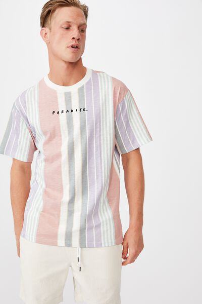 Downtown T-Shirt, PARADISE DIRTY PINK STRIPE