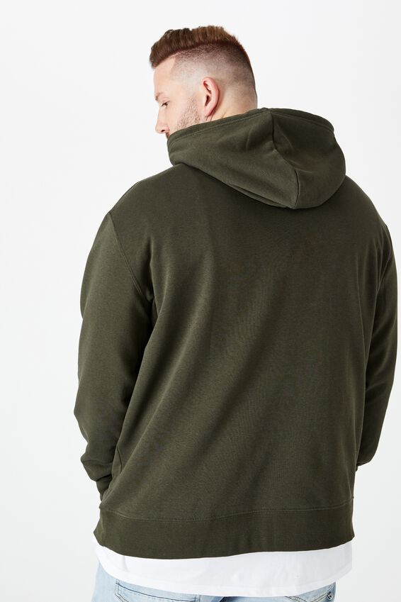 Bg Essential Fleece Pullover, DUFFLE GREEN