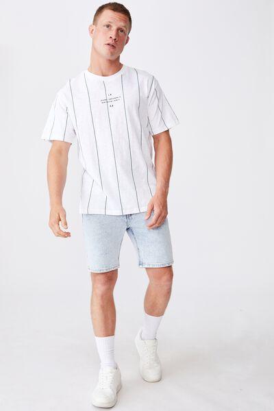 Downtown T-Shirt, L.A C.A SPACED WHITE STRIPE