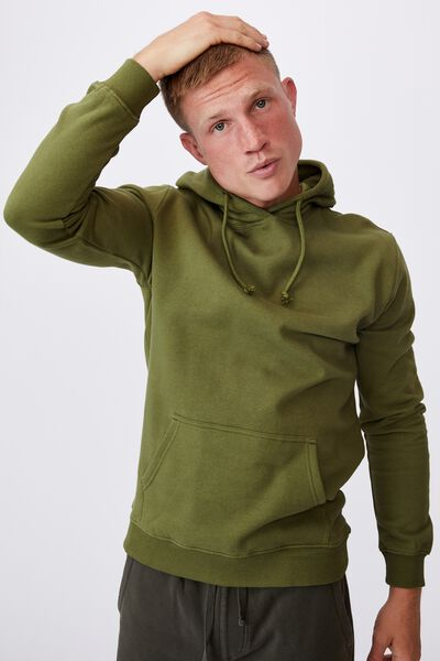 Essential Fleece Pullover, GRASS GREEN