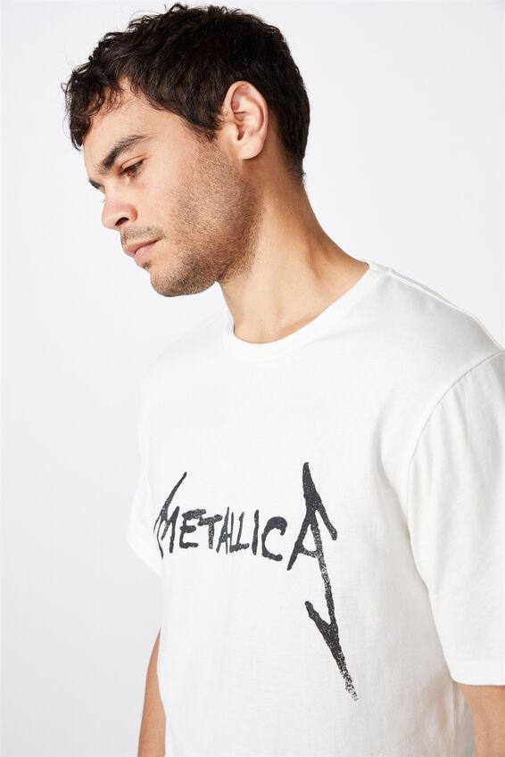 Tbar Collab Music T-Shirt, LCN PRO VINTAGE WHITE METALLICA - SORROW
