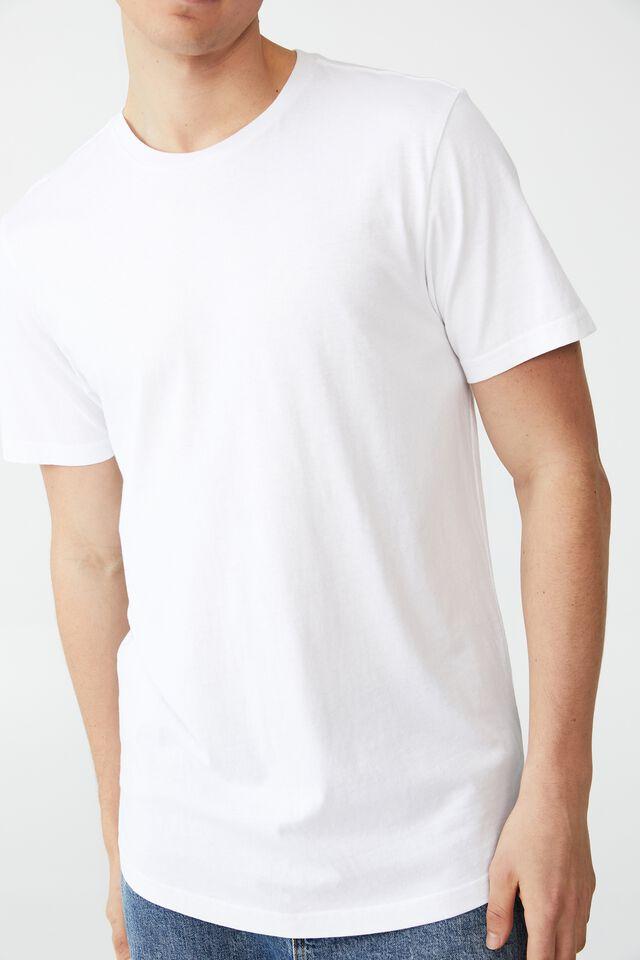 Organic Longline T-Shirt, WHITE
