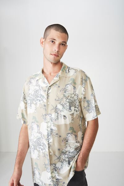 91 Short Sleeve Shirt, SNOW LEOPARD