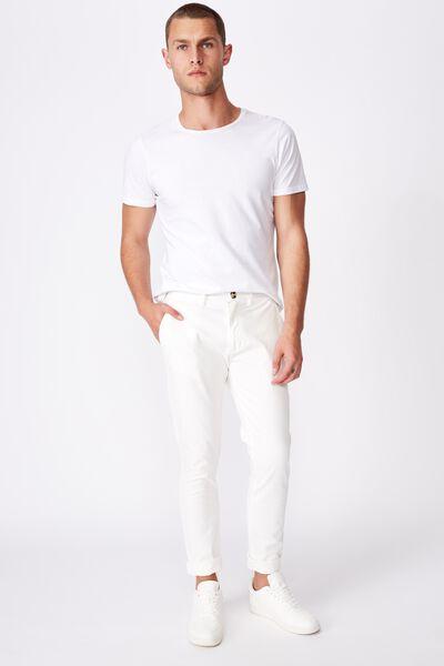 Skinny Stretch Chino, WHITE
