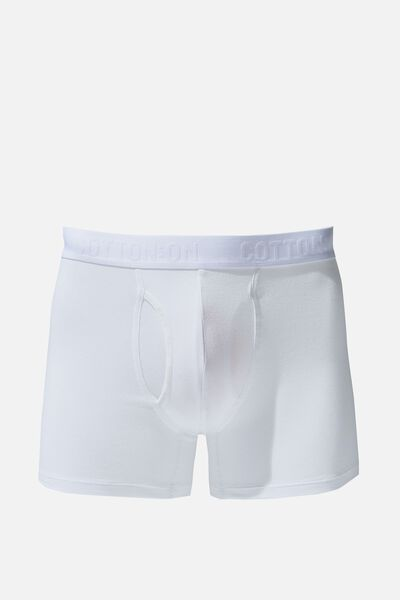 Mens Organic Cotton Trunks, WHITE/WHITE