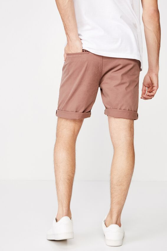 Washed Chino Short, PIGMENT CLAY