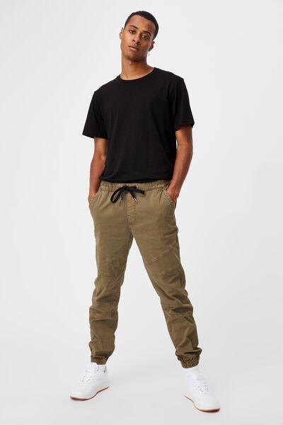 Drake Cuffed Pant, WASHED OLIVE BIKER