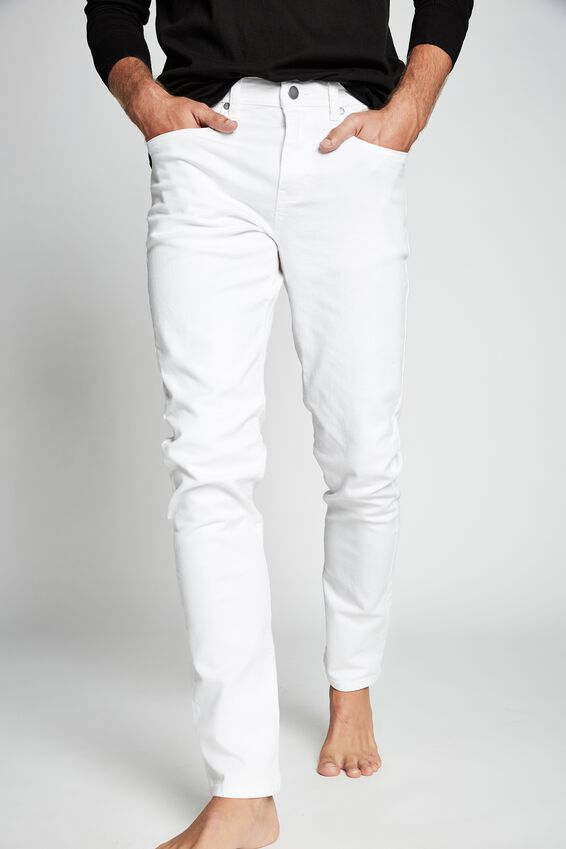 Slim Fit Jean, WHITE