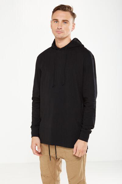 Hooded Long Sleeve, BLACK