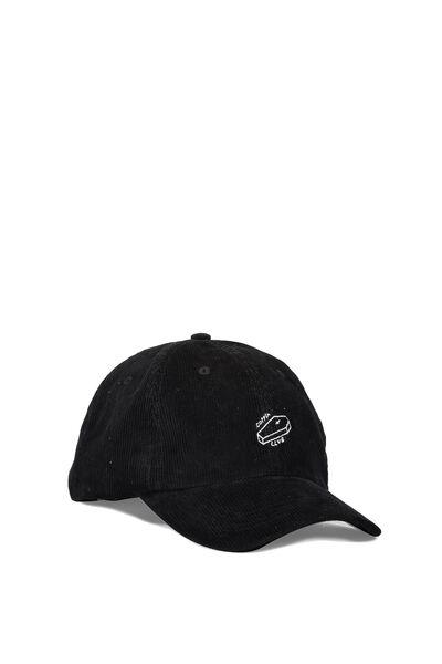 Strap Back Dad Hat, COFFIN CLUB/BLACK CORD