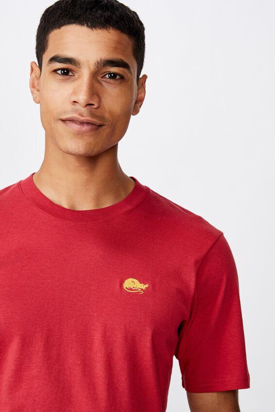 Tbar Cny T-Shirt, SK8 RACE RED/RAT